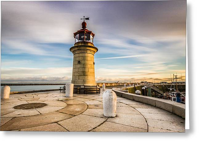 Port Kent Greeting Cards - Ramsgate lighthouse Greeting Card by Ian Hufton