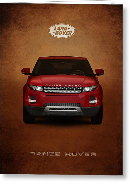 Rover Greeting Cards - Range Rover Evoque Greeting Card by Mark Rogan