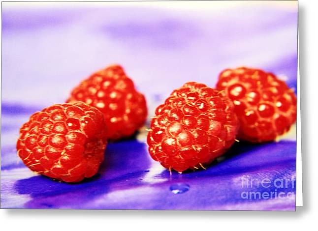 Agronomy Greeting Cards - Raspberries Greeting Card by Lali Kacharava