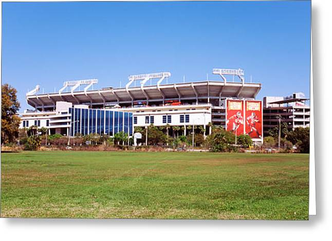 Buccaneer Greeting Cards - Raymond James Stadium Home Of Tampa Bay Greeting Card by Panoramic Images