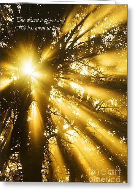 Rays Of Light Greeting Card by Thomas R Fletcher