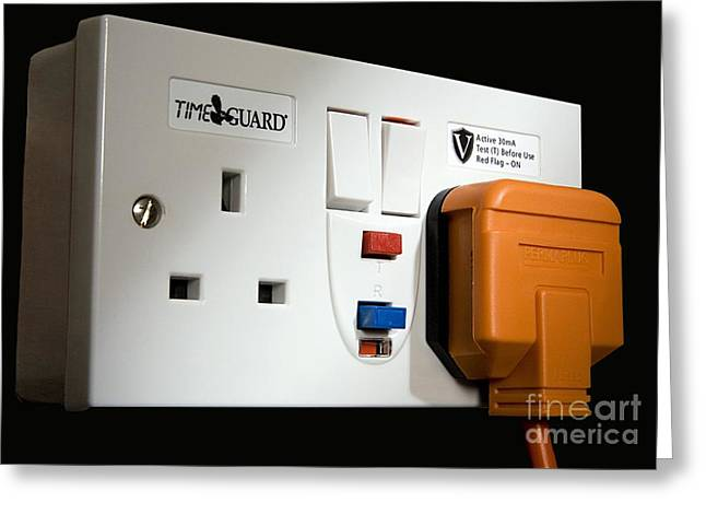 Electrocution Greeting Cards - Rcd Protected Switched Sockets Greeting Card by Sheila Terry