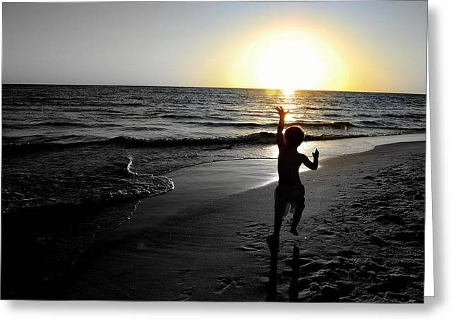 Panama City Beach Greeting Cards - Reach for Your Dreams 3 of 4 Greeting Card by May Photography