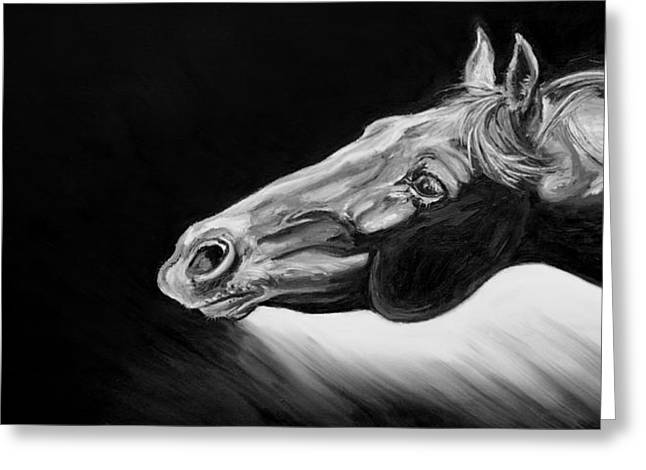Expressionist Horse Greeting Cards - Reach Greeting Card by Renee Forth-Fukumoto