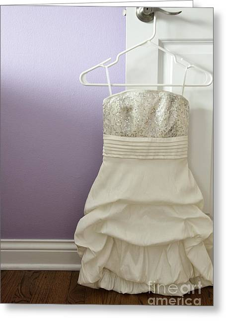 Strapless Dress Greeting Cards - Ready for the Dance Greeting Card by Birgit Tyrrell