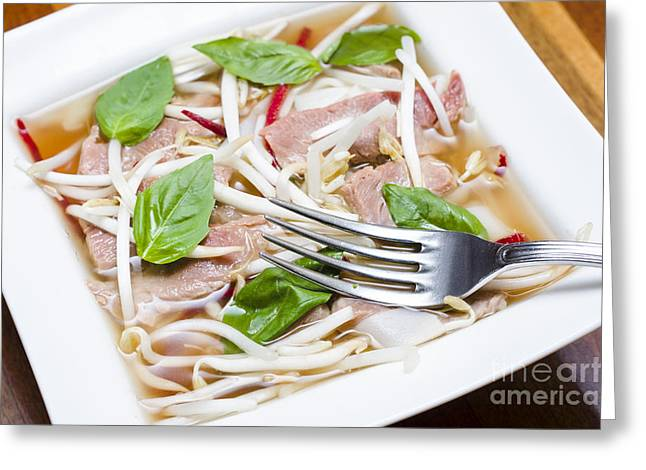 Ready To Serve Bowl Of Pho Bo Greeting Card by Jorgo Photography - Wall Art Gallery