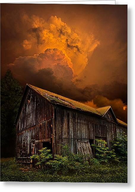 Summer Storm Photographs Greeting Cards - Recluse Greeting Card by Phil Koch