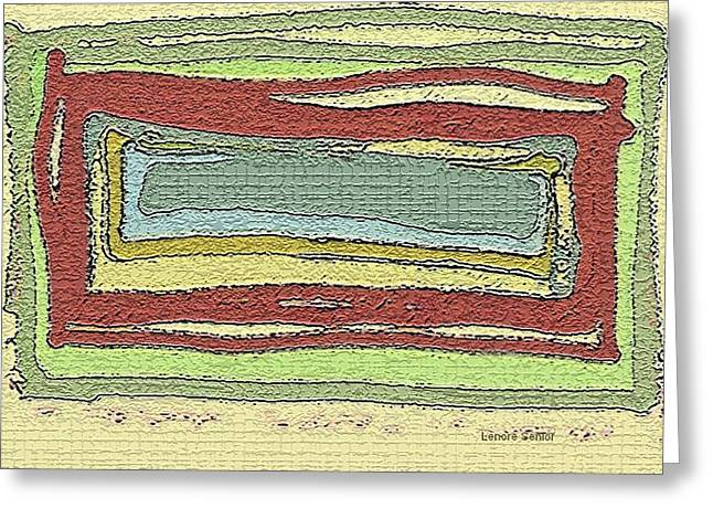 Abstract Expressionist Greeting Cards - Rectangles Greeting Card by Lenore Senior
