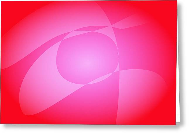 Gradations Digital Art Greeting Cards - Red and Pink Greeting Card by Masaaki Kimura