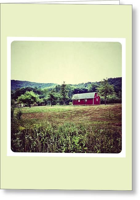 Barn Digital Art Greeting Cards - Red Barn Greeting Card by Natasha Marco