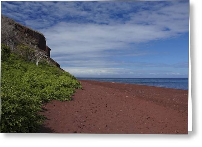 Geology Photographs Greeting Cards - Red Beach of Rabida Greeting Card by Brian Kamprath
