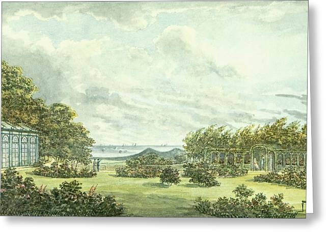 English Drawings Greeting Cards - Red Book For Sheringham Hall, C.1812 Greeting Card by Humphry Repton