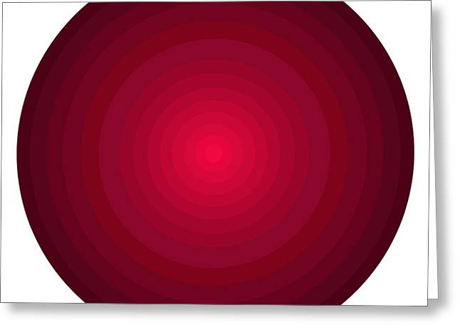 Big Wine Greeting Cards - Red Circles Greeting Card by Frank Tschakert