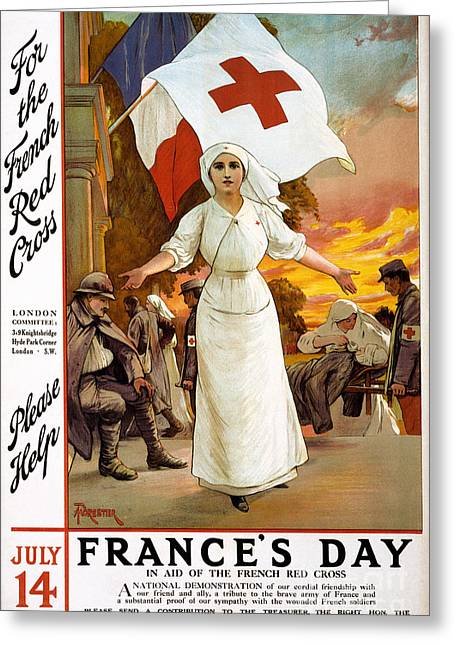 Fundraiser Greeting Cards - Red Cross Poster, 1915 Greeting Card by Granger