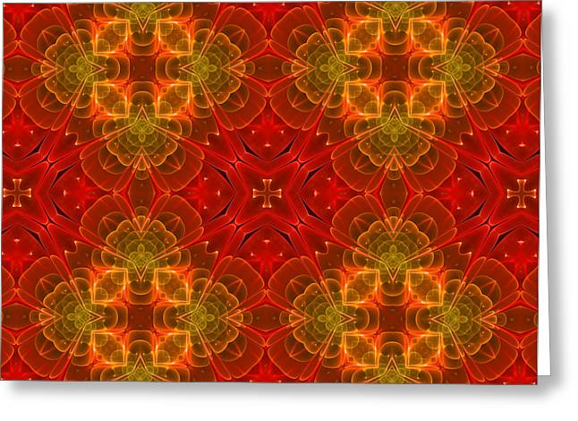Youthful Digital Art Greeting Cards - Red For Love Greeting Card by Georgiana Romanovna