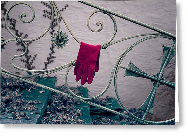 red glove Greeting Card by Joana Kruse