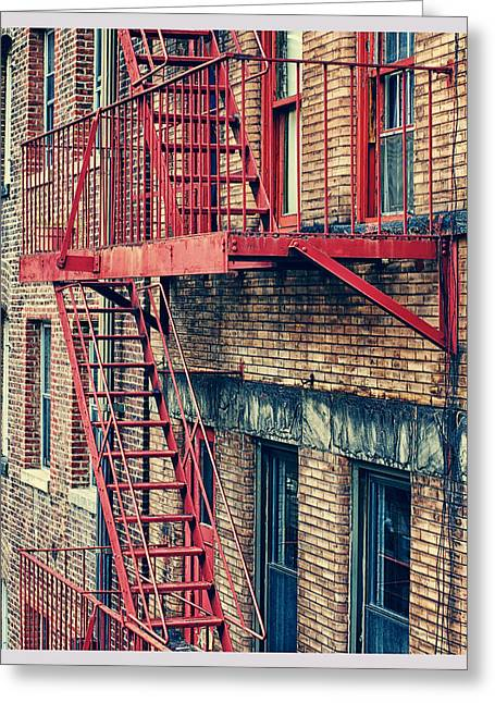 Chelsea Greeting Cards - Red Greeting Card by Laura George