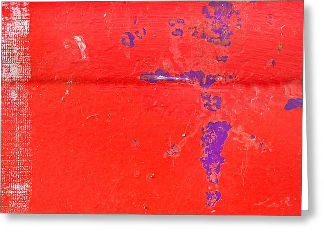 Fissure Greeting Cards - Red metal Greeting Card by Tom Gowanlock