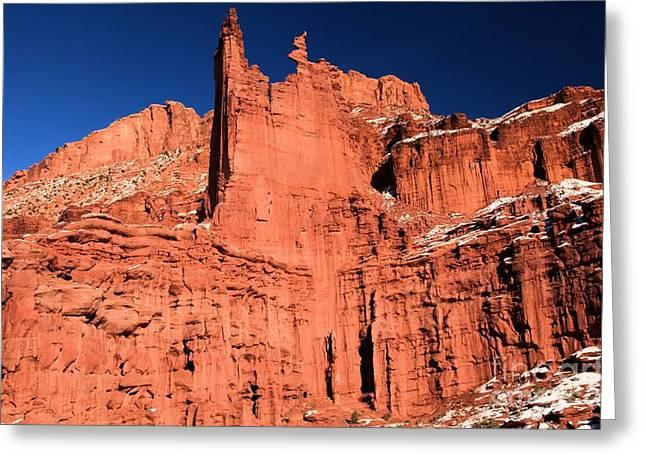128 Greeting Cards - Red Rock Fisher Towers Greeting Card by Adam Jewell