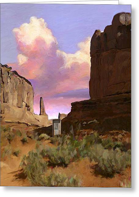 Rocks Greeting Cards - Red Rocks Greeting Card by Snake Jagger