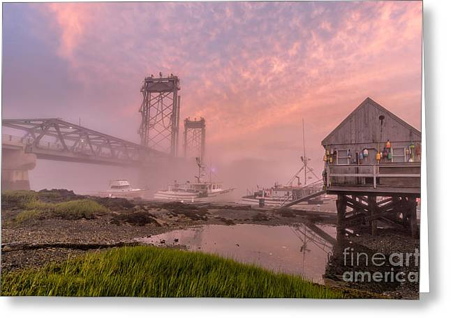 Lobster Shack Greeting Cards - Red Sky at Night Greeting Card by Scott Thorp