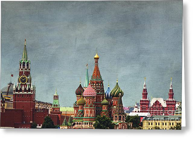 St Basils Greeting Cards - Red Square Moscow Greeting Card by Elena Nosyreva