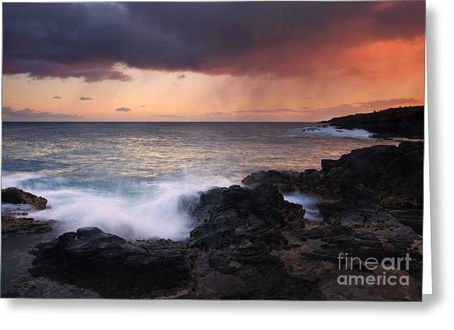 Kauai Greeting Cards - Red Storm Rising Greeting Card by Mike  Dawson