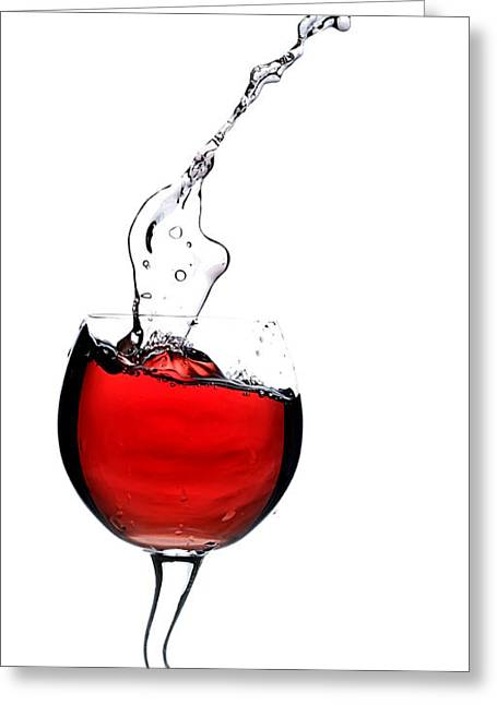 Red Wine Splash Greeting Cards - Red wine Greeting Card by Andreas Berheide