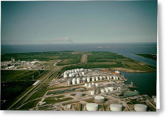Recently Sold -  - Ocean Vista Greeting Cards - Refinery near Houston Greeting Card by Mountain Dreams