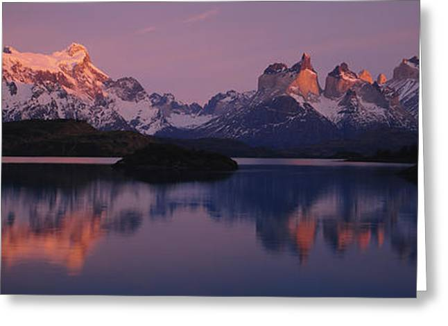 Mountain Greeting Cards - Reflection Of Mountains In A Lake, Lake Greeting Card by Panoramic Images