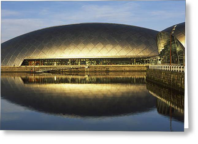 Science Greeting Cards - Reflection Of The Glasgow Science Greeting Card by Panoramic Images