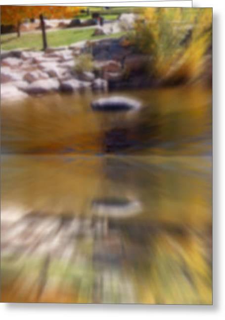 Riverwalk Digital Art Greeting Cards - Reflections Greeting Card by Bobbee Rickard