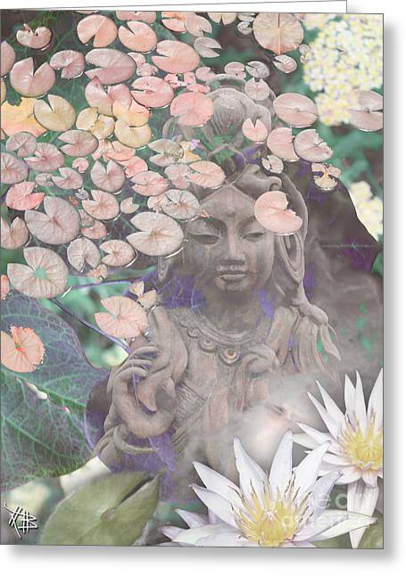 Lotus Flowers Greeting Cards - Reflections Greeting Card by Christopher Beikmann