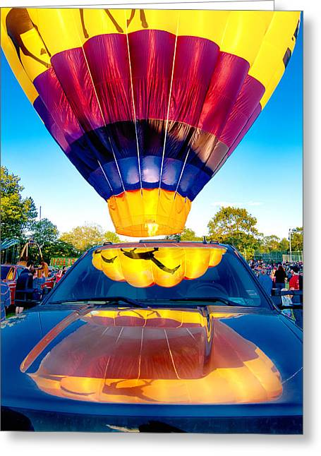 Helicopter Photographs Greeting Cards - Reflections Greeting Card by Greg Fortier