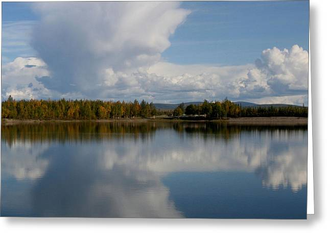 Alaska Lake Greeting Cards - Reflections of Beauty Greeting Card by Sharon Mau