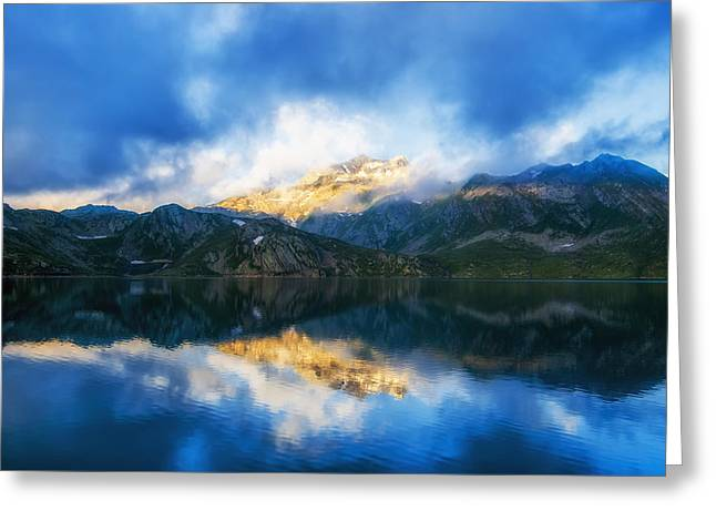 Italian Landscapes Greeting Cards - Reflections of Italy Greeting Card by Mountain Dreams