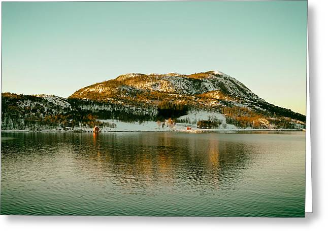 Norwegian Landscape Greeting Cards - Reflections of Norway Greeting Card by Mountain Dreams