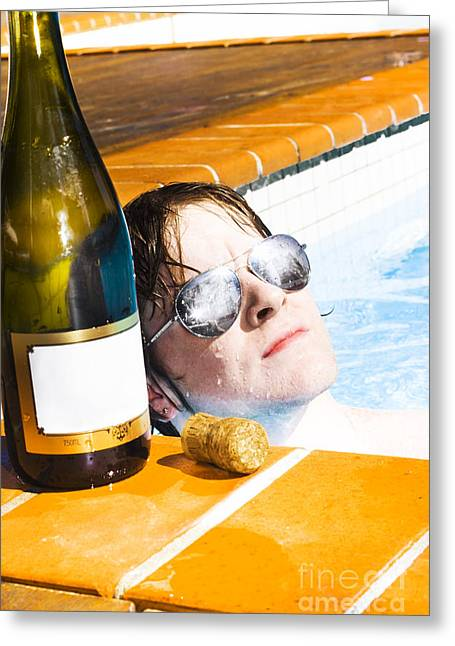 Sparkling Wine Greeting Cards - Reflections Of Success Greeting Card by Ryan Jorgensen