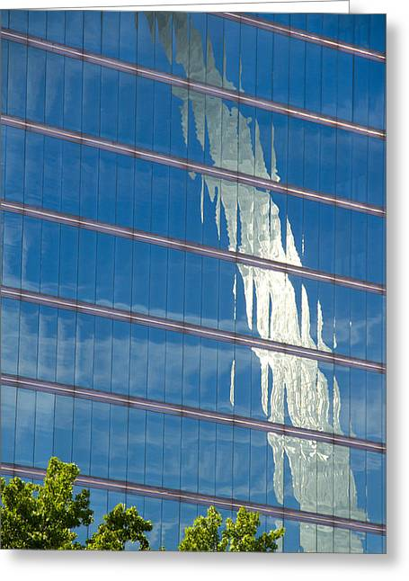 Jefferson National Expansion Memorial Greeting Cards - Reflections of the St Louis Arch Greeting Card by Garry McMichael