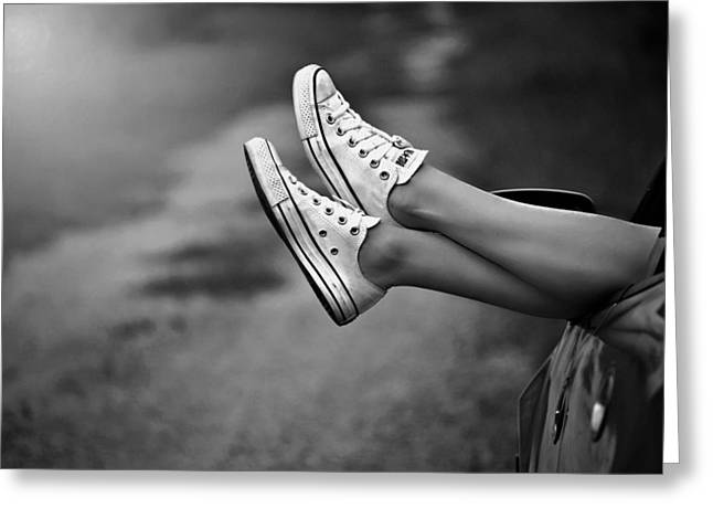 White Sneakers Greeting Cards - Relaxation Greeting Card by Mountain Dreams