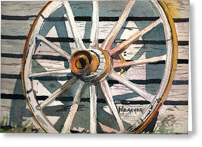 Spokes Paintings Greeting Cards - Relic Of The Past Greeting Card by Spencer Meagher