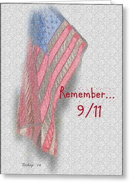 Terrorism Greeting Cards - Remember 9-11 Greeting Card by Larry Bishop