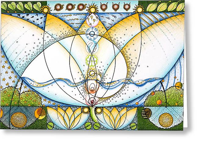 Helix Drawings Greeting Cards - Blue Lotus Greeting Card by Ida  Novotna