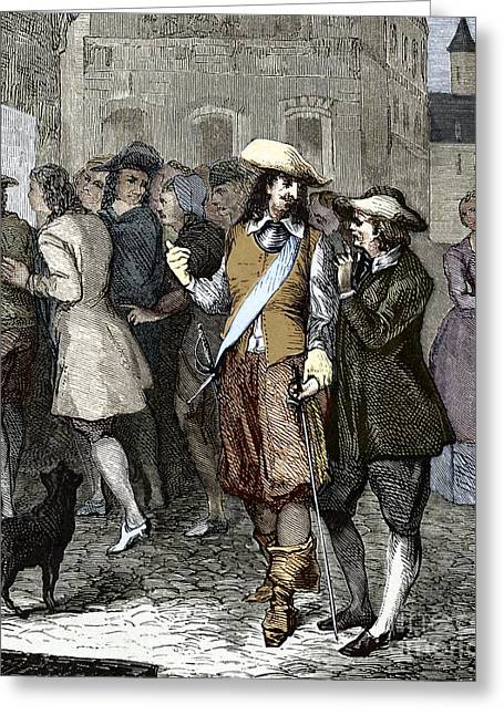 Rene Descartes And Isaac Beeckman Greeting Card by Sheila Terry