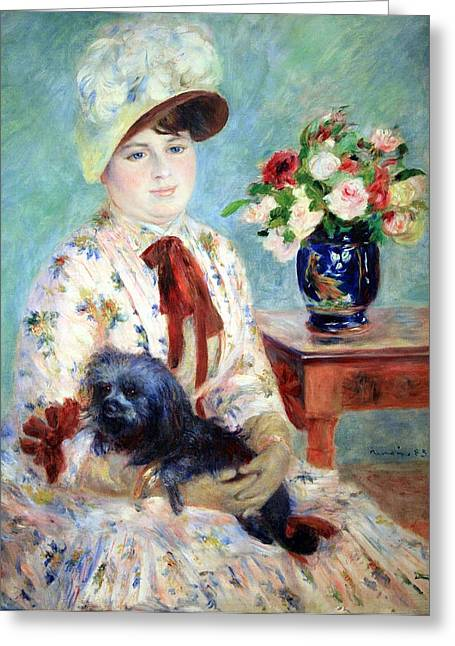 Charlotte Gallery Greeting Cards - Renoirs Mlle Charlotte Berthier Greeting Card by Cora Wandel