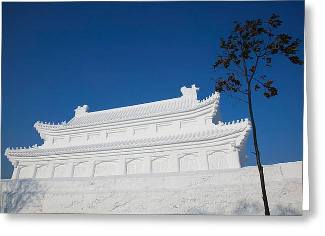 Chinese Architecture And Art Greeting Cards - Replica Of The Forbidden City Made Greeting Card by Panoramic Images