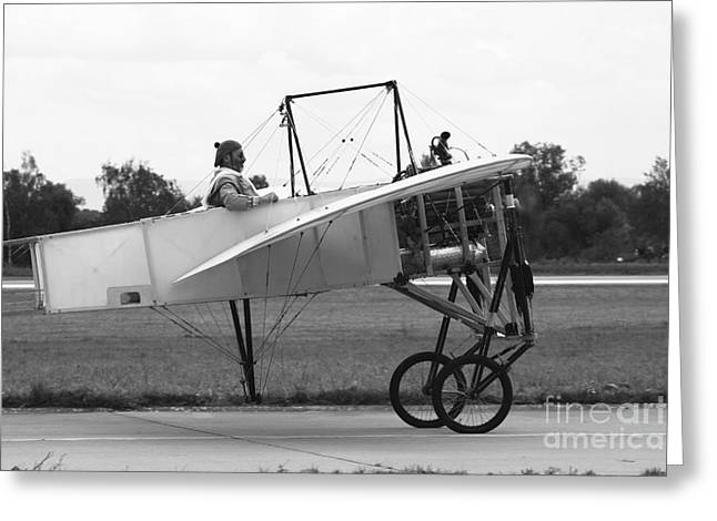 Hradec Greeting Cards - Replica Of The Wright Flyer Greeting Card by Timm Ziegenthaler