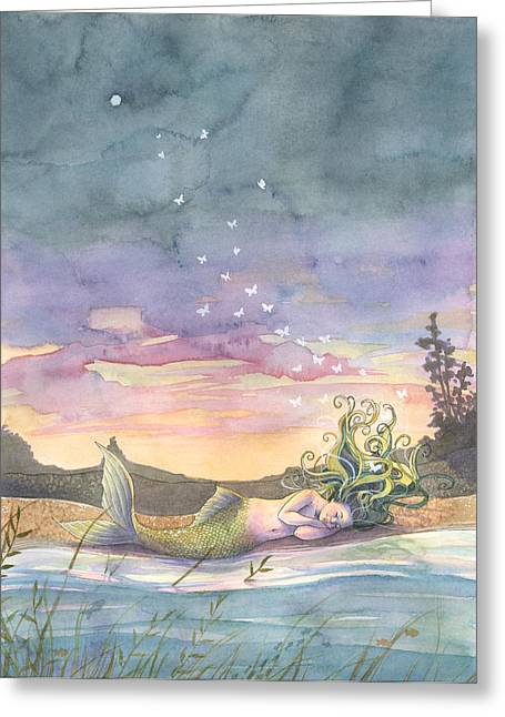 Rest On The Horizon Greeting Card by Sara Burrier