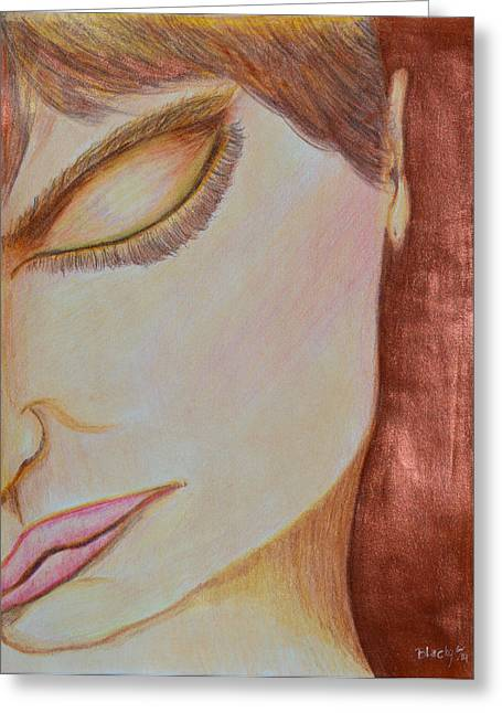 Bronze Mixed Media Greeting Cards - Resting Greeting Card by Donna Blackhall