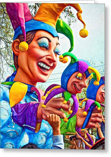Rex Mardi Gras Parade Xi - Paint Greeting Card by Steve Harrington